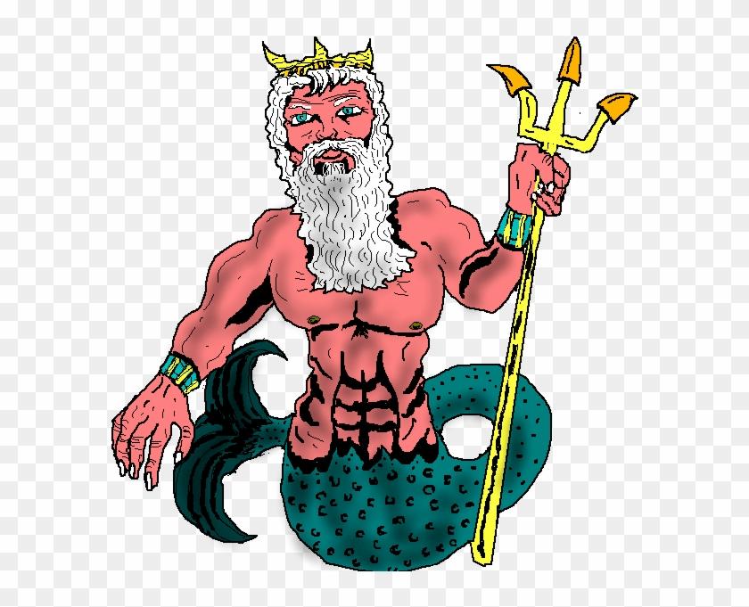 Gods Clipart Help Me - Poseidon Png Transparent Background #98678