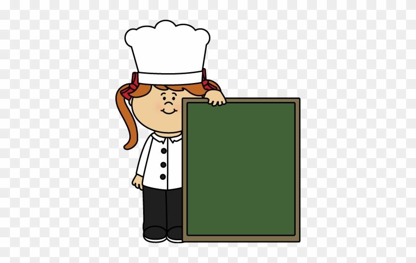 Chef And Chalkboard Clip Art - Clip Art #98685