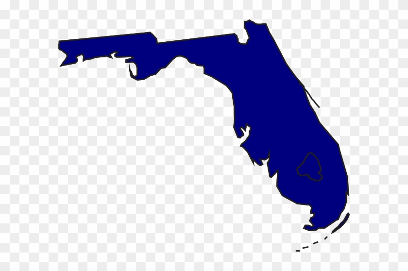 Clip Arts Related To - Florida Map Vector Png #98750