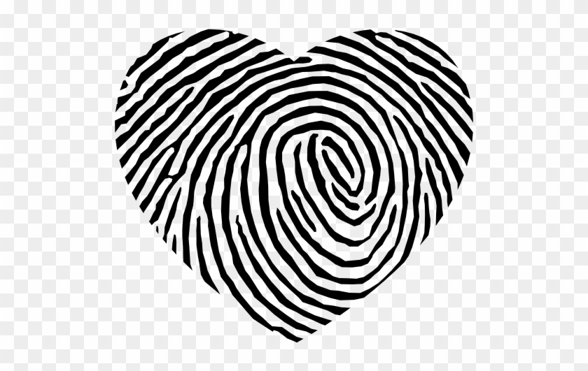 Size - Heart Fingerprint #98854