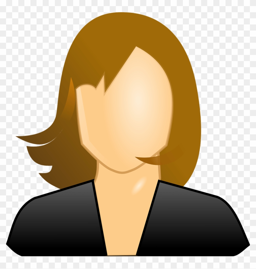 Clip Art Details - Female User Icon #98881