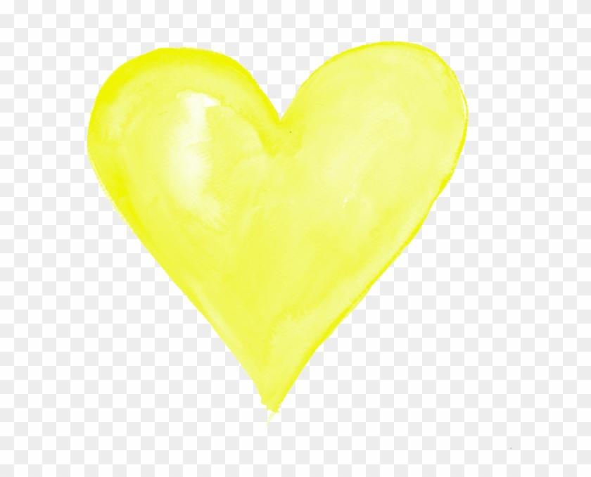 Yellow Heart Transparent Png - Yellow Heart Transparent #98948