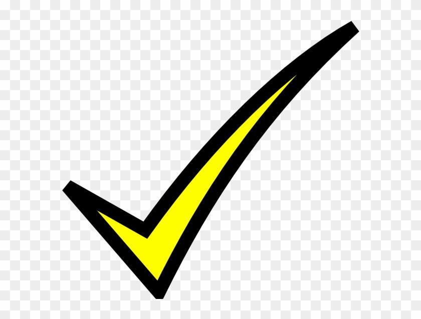 Check Mark Clip Art Free Download - Yellow Check Mark Clip Art #98969
