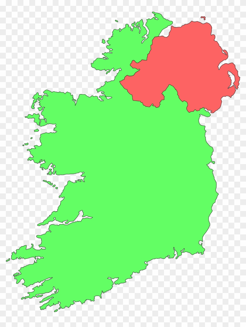 Ireland Contour Map Clip Art At Clker - Easy Map Of Ireland #98973