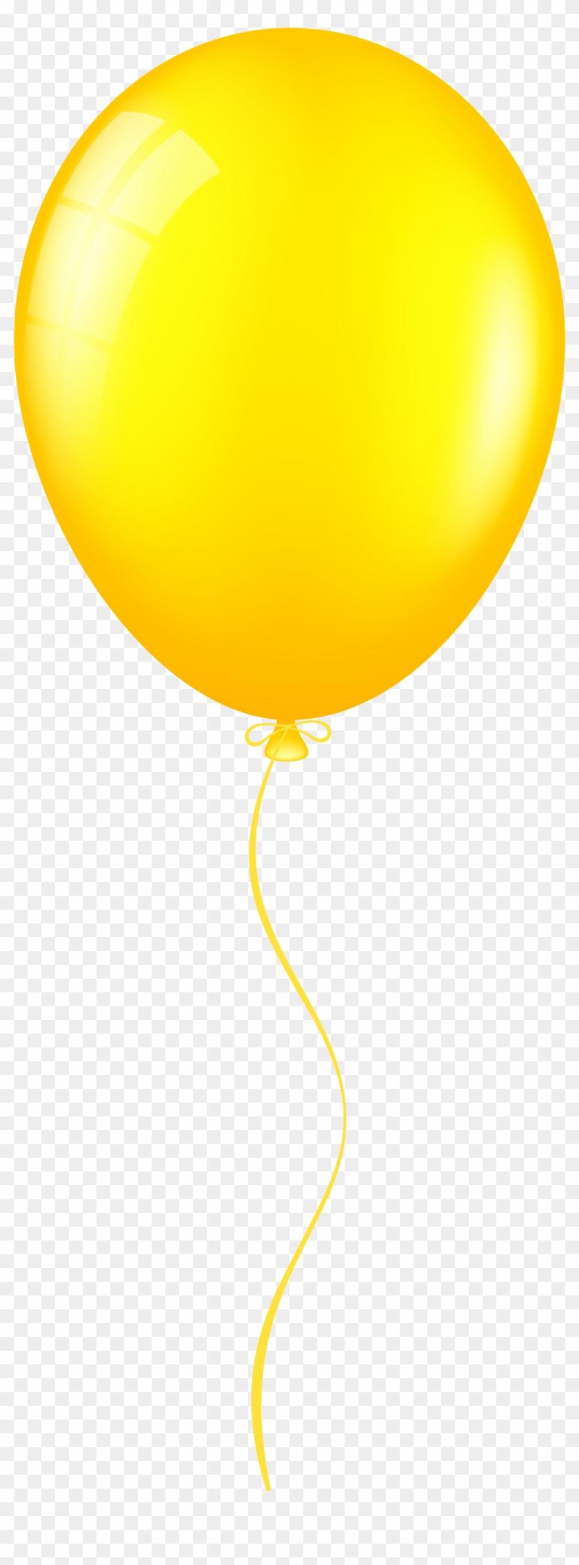 Yellow Balloon Png Clip Art - Balloon #99039