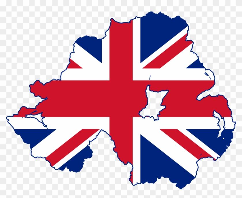 Flag Map Of Northern Ireland - Northern Ireland Flag Map #99047