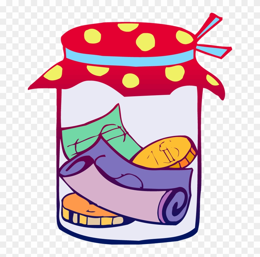 Time Capsule Clipart - Money Jar Clip Art #99093