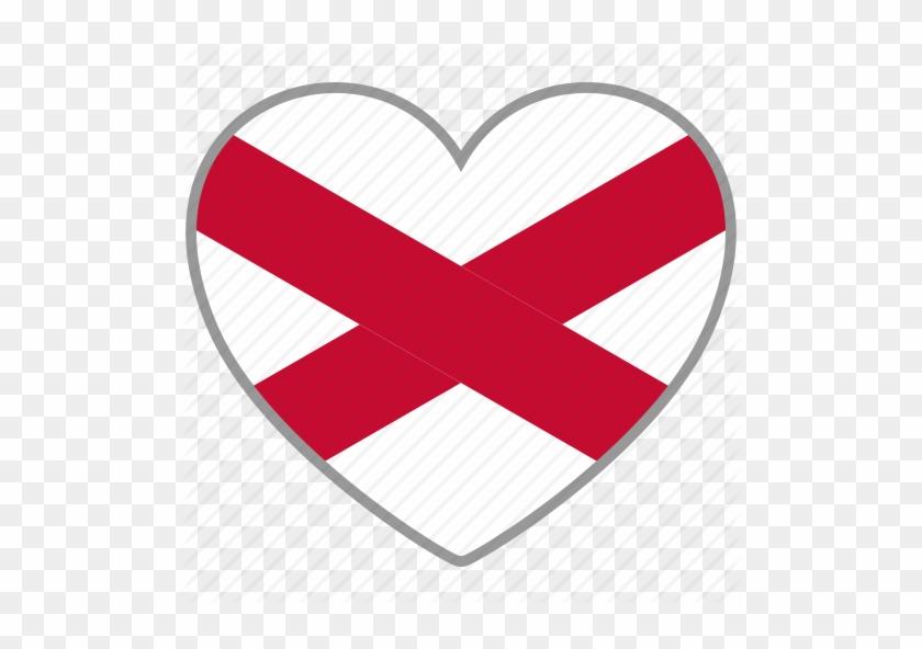 Northern Ireland Flag Heart Icon - Northern Ireland Flag Heart #99101