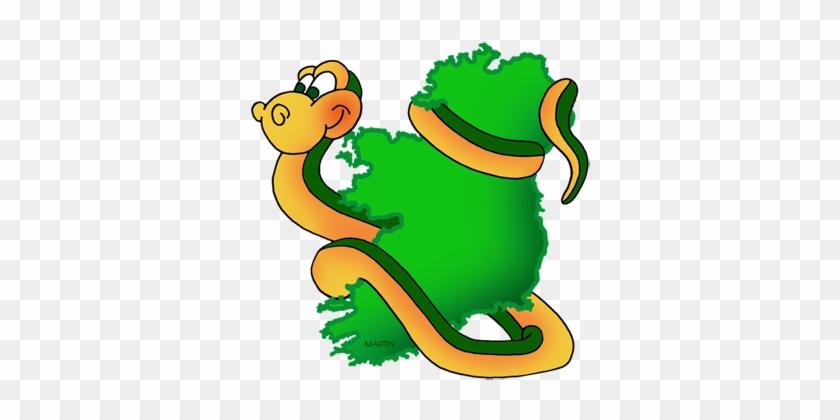 Map Of Ireland With Snake - Map Of Ireland #99124