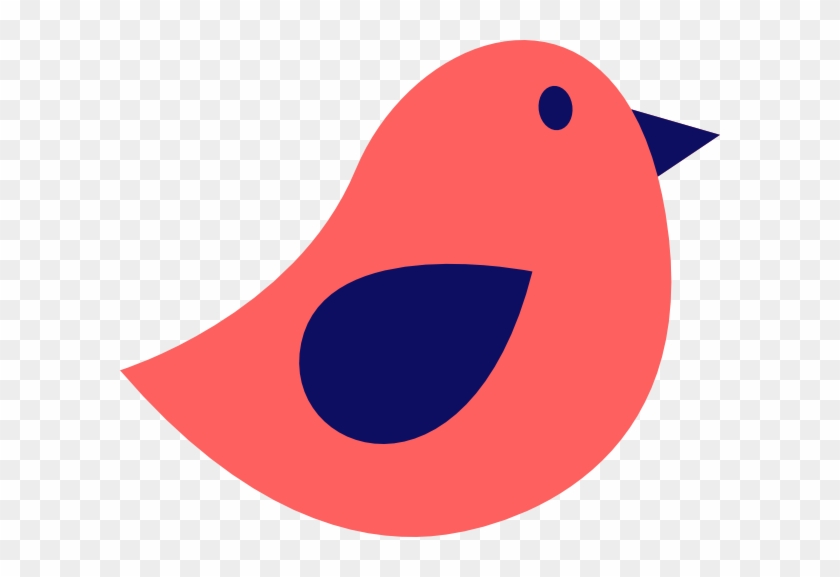 Coral And Navy Bird Png Images - Clip Art Red Bird #99144