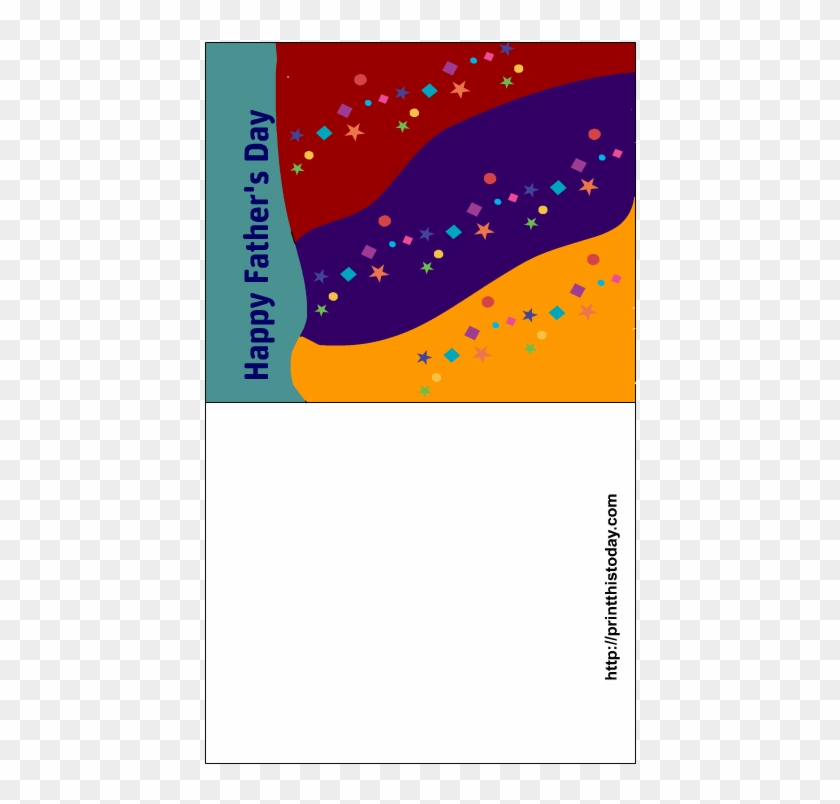 Colorful Father's Day Card - Father's Day #99154
