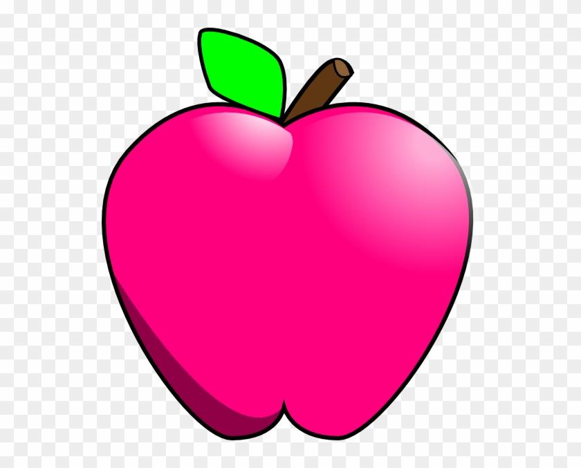 Magenta Apple Clip Art - Pink Apple Clipart #99257