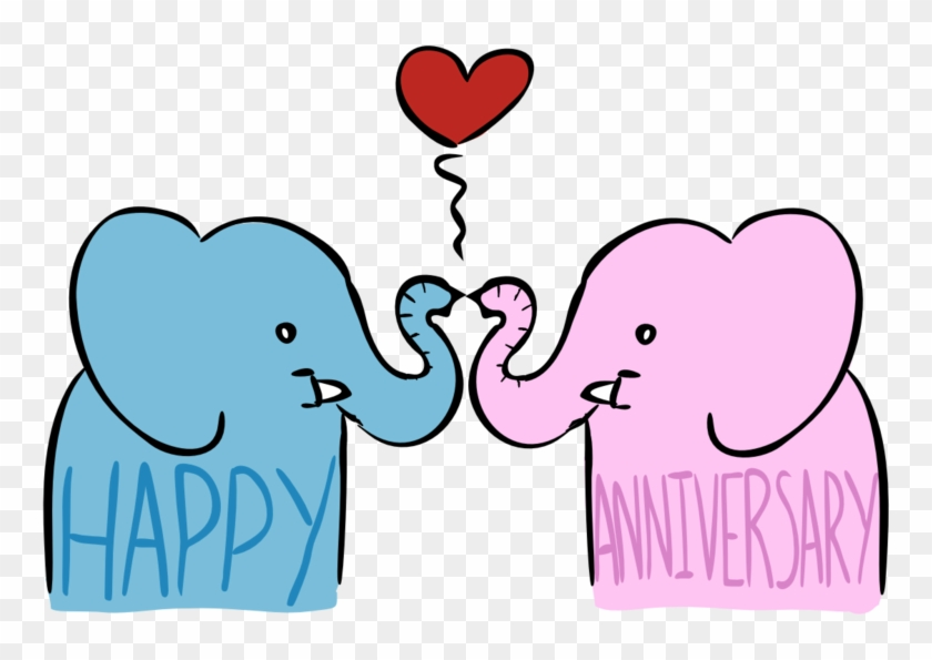 Anniversary Card Image By Iggysaur On Clipart Library - Happy Anniversary Card Transparent #99264