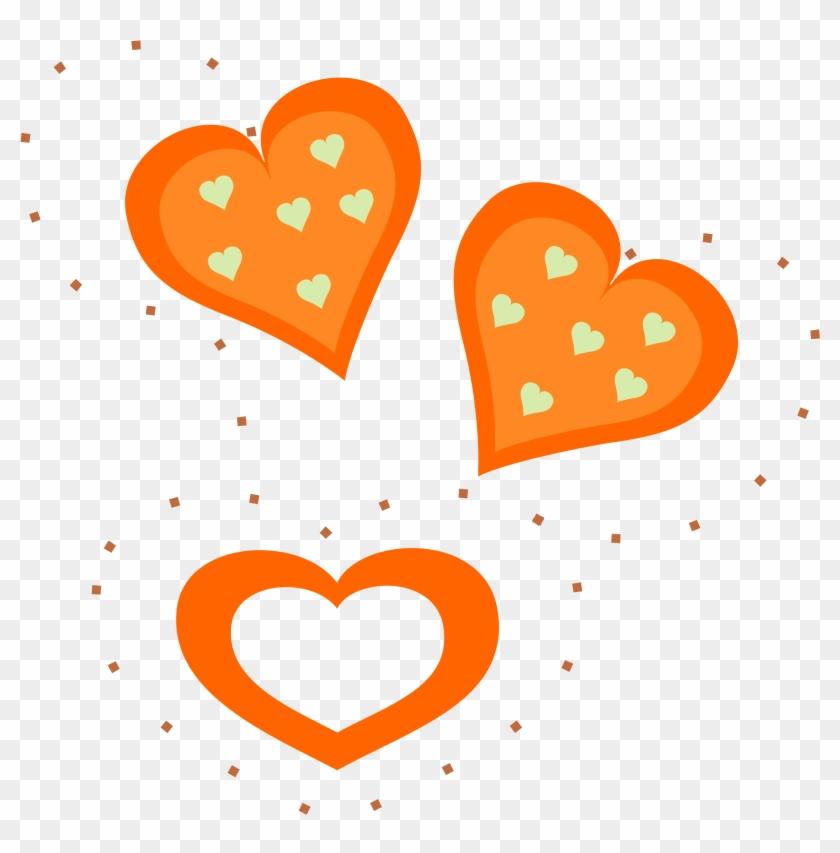 Orange Clipart Heart - Orange Hearts Clipart #99284