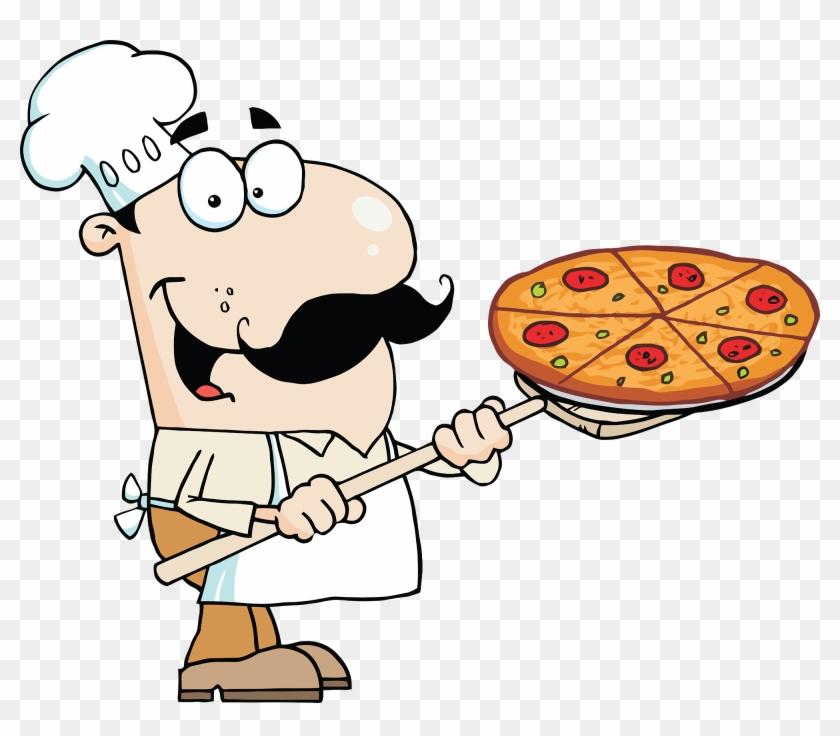 Clipart Info - Cartoon Italian Pizza Guy #99363