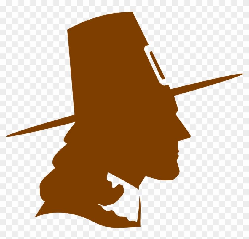 Thanksgiving November Pilgrim Mayflower Puritan - Pilgrim Silhouette #99366