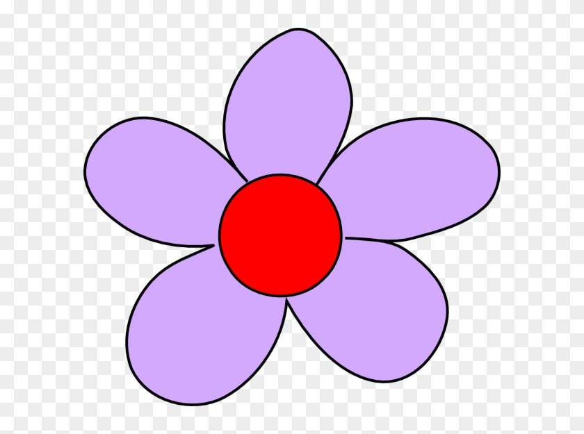 Red And Purple Flower Clipart #99381