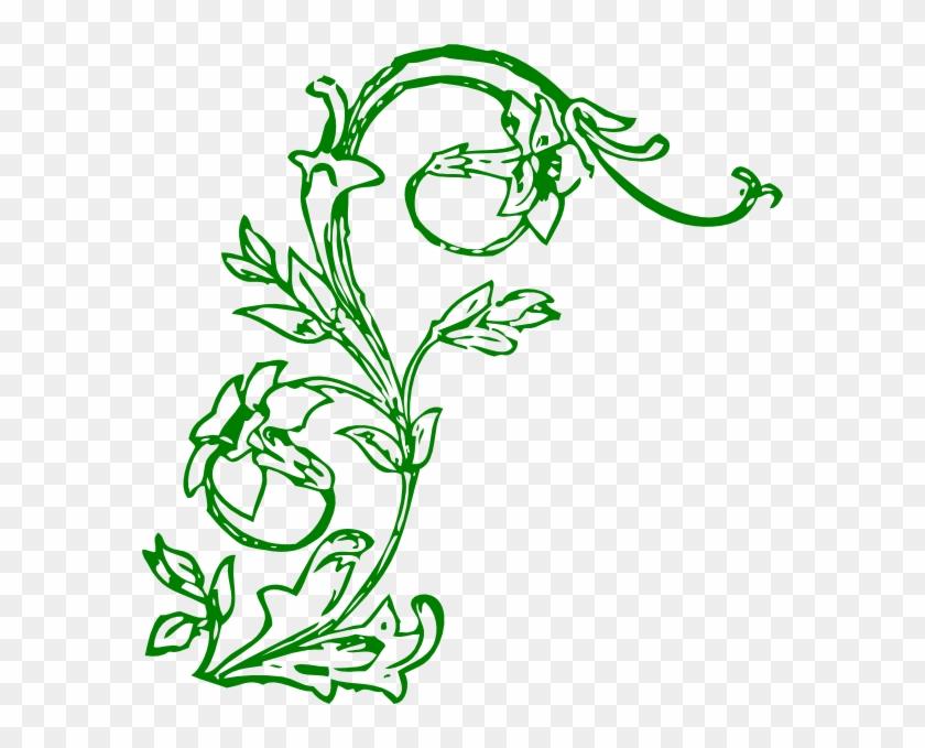 Flowering Vine Clip Art - Vines And Flowers Clip Art #99383