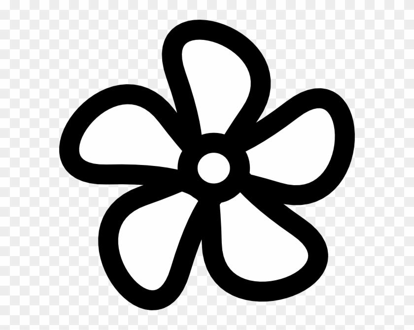 Flower Clip Art - Flower Clipart Black And White Outline #99395