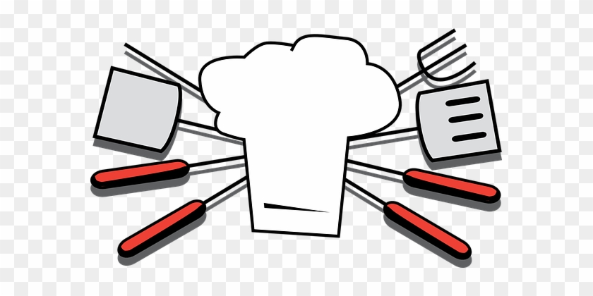 Grilling Tools Chef Hat Cooking Summer Bar - Bbq Clipart #99417