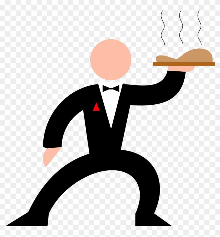 Cartoon Waiter Clipart - Waiter Clip Art #99423
