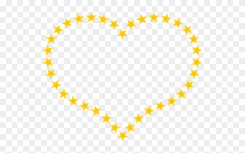Pixabella Heart Shaped Border With Yellow Stars - Star In Heart Shape #99543