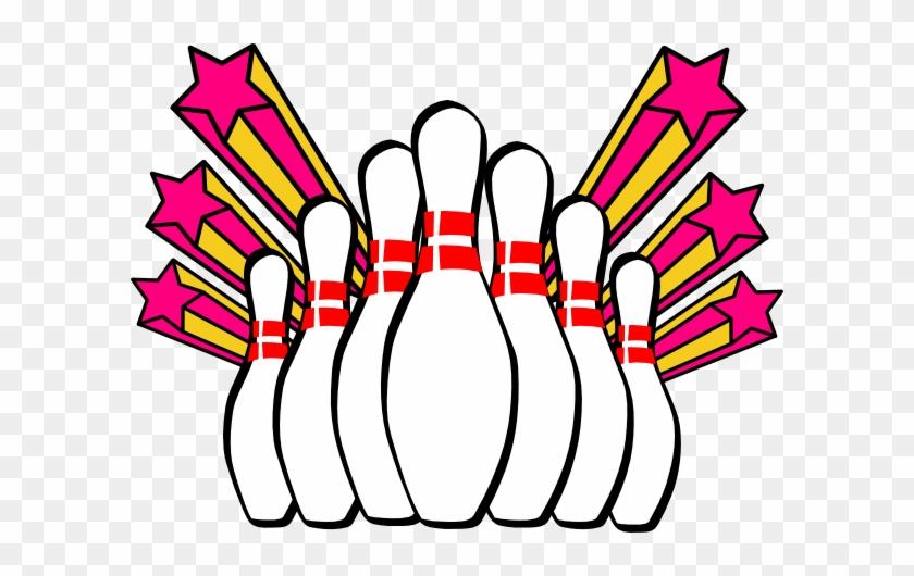Bowling Pins And Stars Tile Coaster #99555