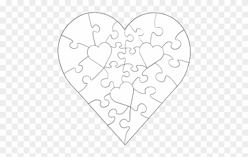Heart Shaped Puzzle Pieces #99601