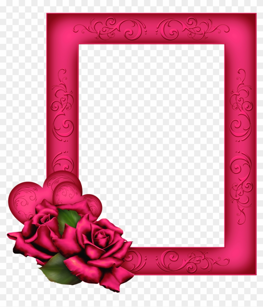 Beautiful Transparent Png Pink Frame With Roses - Bible 1 John 4 18 ...