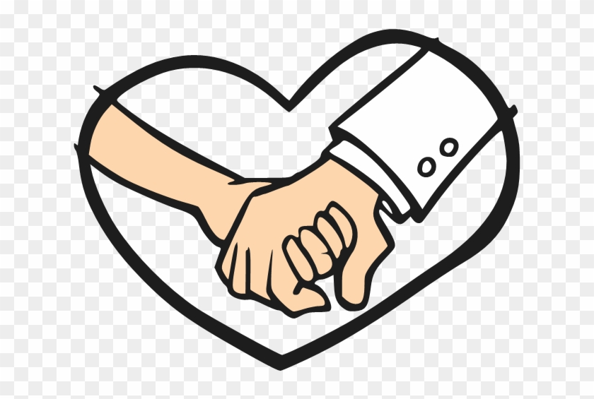 Cartoon Holding Hands - Cartoon Hands Holding Hearts #99610