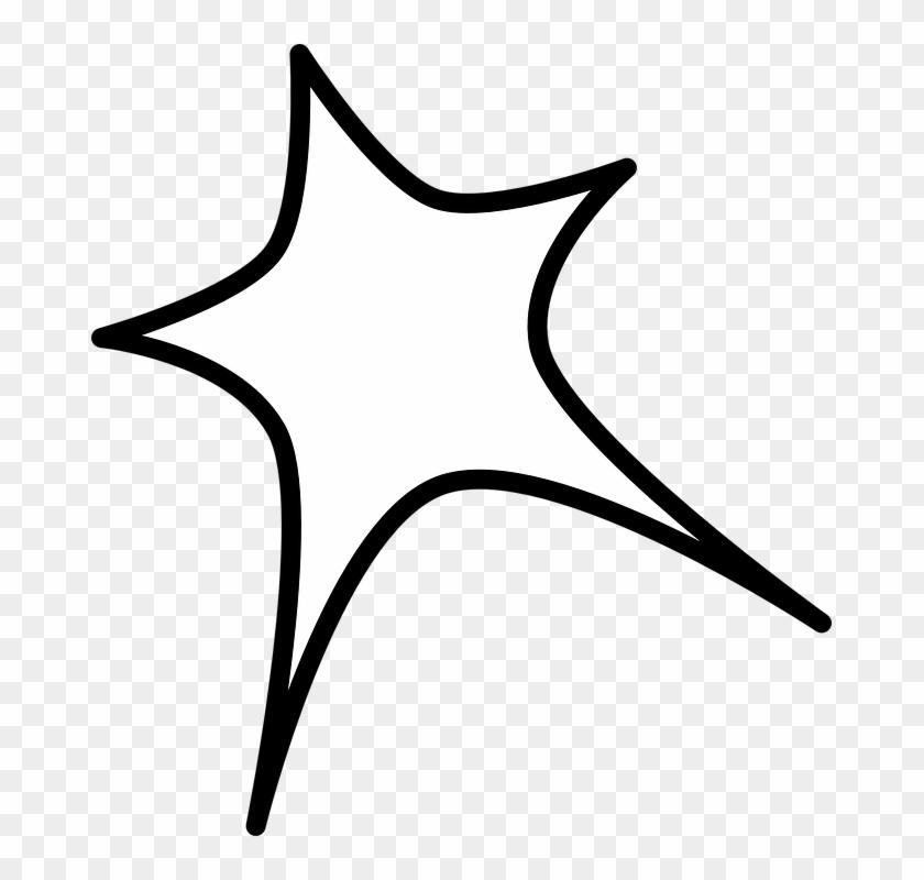 Star Shape Border Line - Transparent Background Star Clipart #99645
