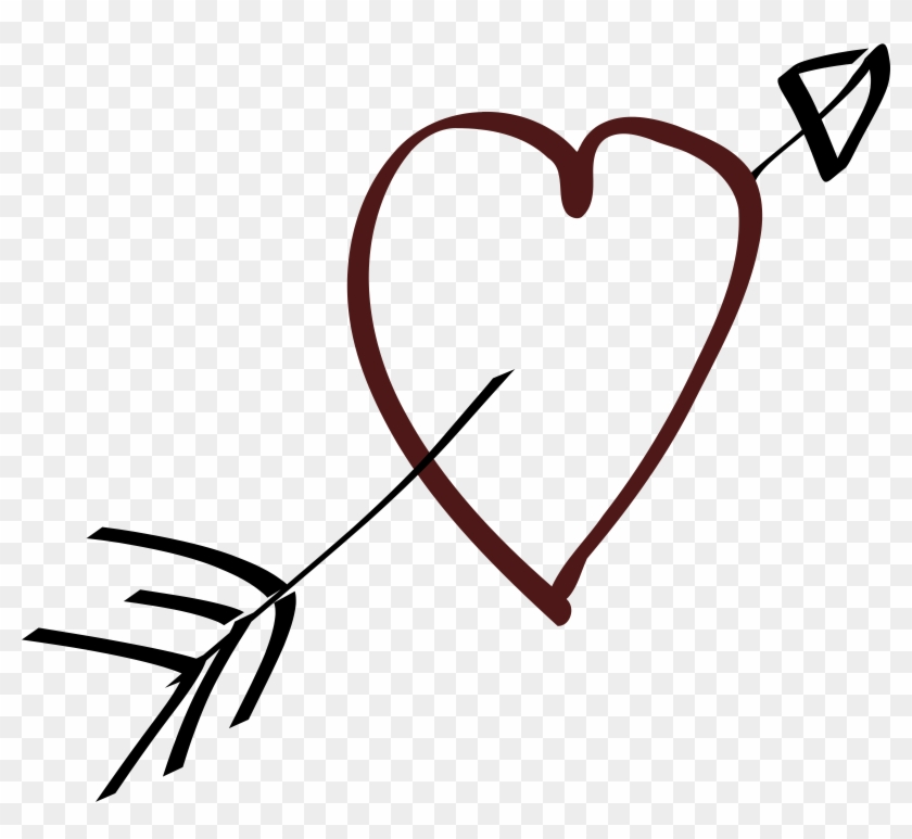 Big Image - Heart And Arrow Clipart #99675