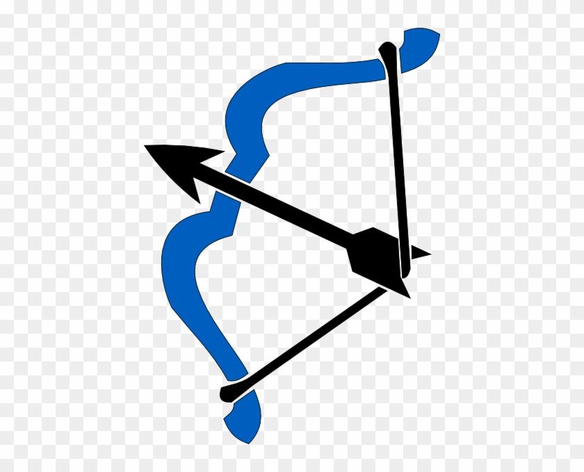 Clip Art Bow And Arrow Bow And Arrow Bow And Arrow - Blue Bow And Arrow Clip Art #99729