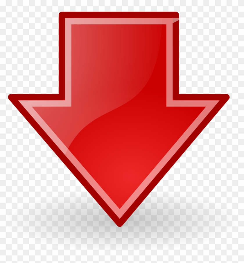 Free Stock Photo - Red Arrow Png Down #99739