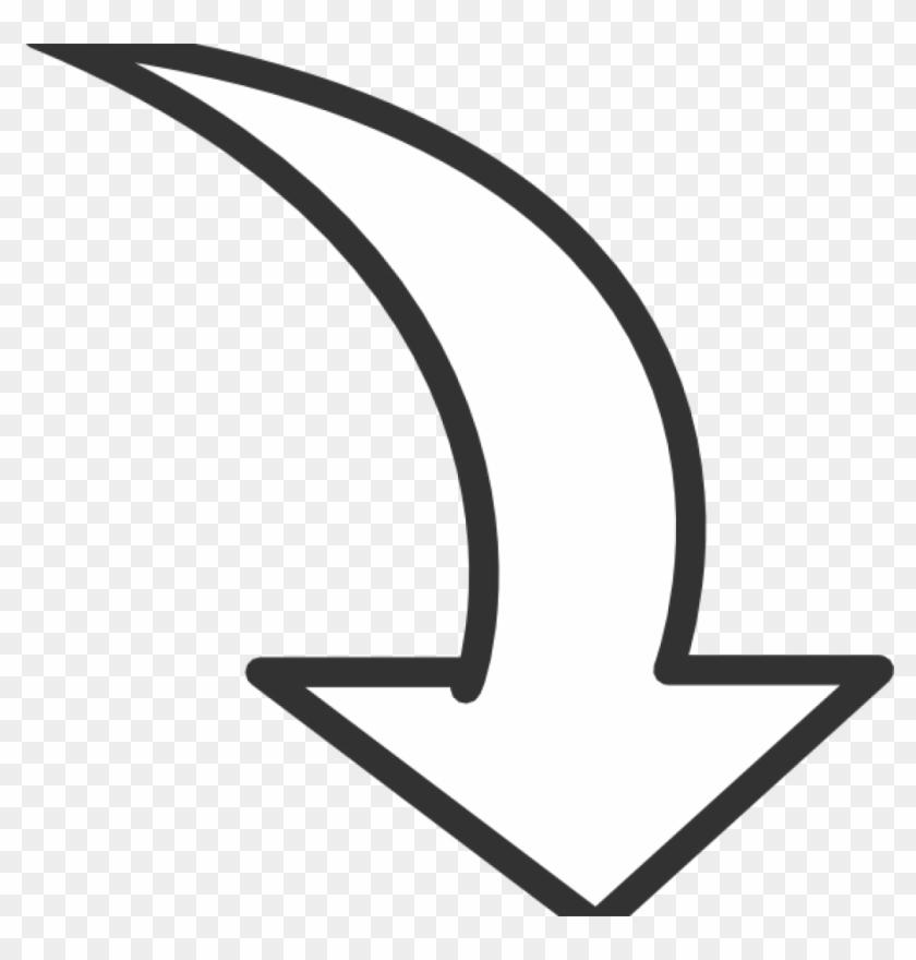 Arrow Clip Art White Curved Arrow Clip Art At Clker - Curved Arrow Clip Art #99826
