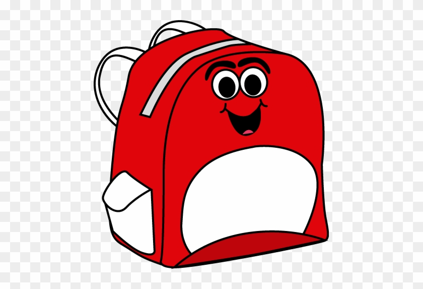 Cartoon Backpack Clip Art Image School Backpack With - Just Books Read Aloud #99865