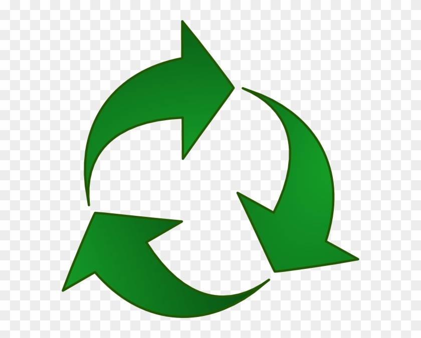 Green Recycle Arrows Clip Art At Pic Png Images - Recycle Clipart Png #99875