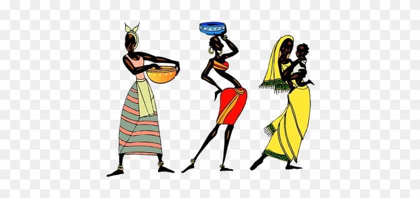 Woman Ethic African People Collage Tribe T