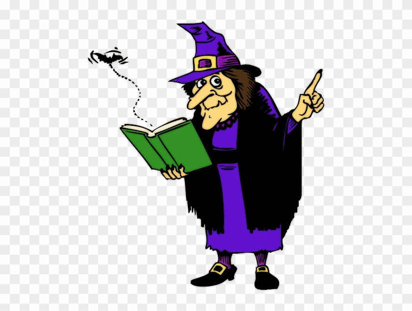 Halloween School Cliparts - Witch Casting A Spell #99896
