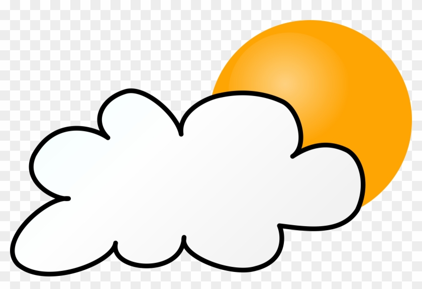 Cloudy Day Simple - Rainy Weather Clip Art #100030