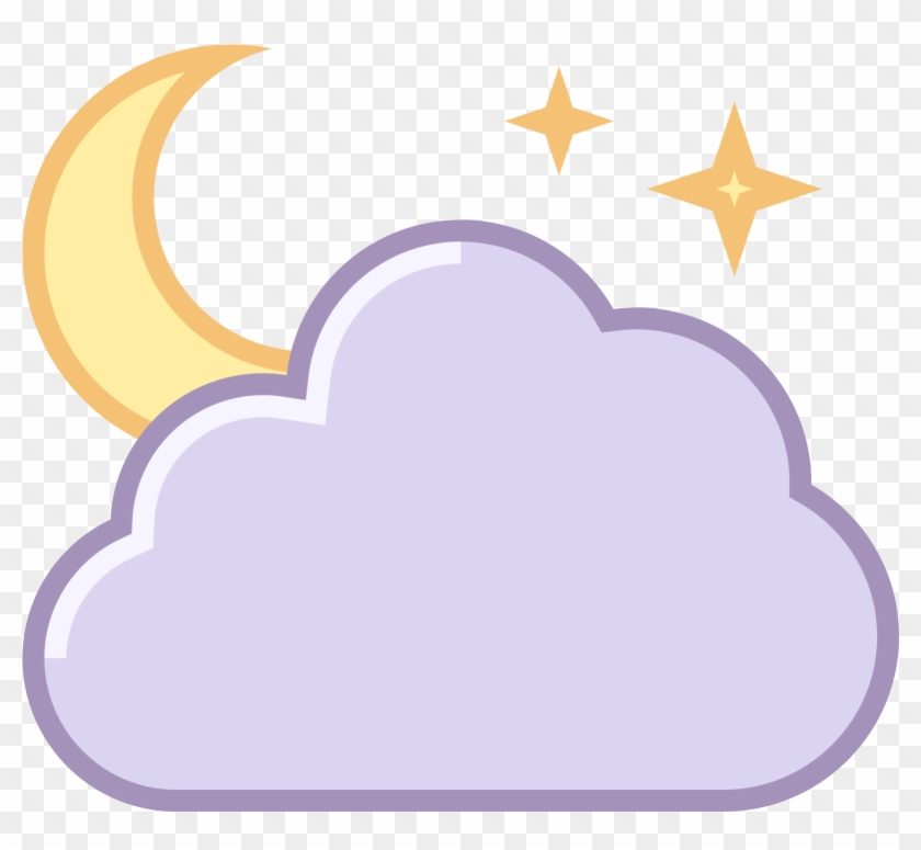 Night Clipart Partly Cloudy - Cloudy Night Clipart #100057