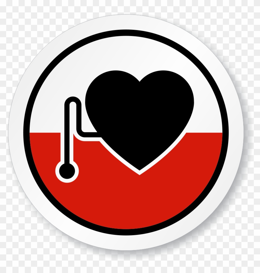 Pacemaker Wearers Symbol Iso Circle Sign - Heart Pacemaker Sign #100072