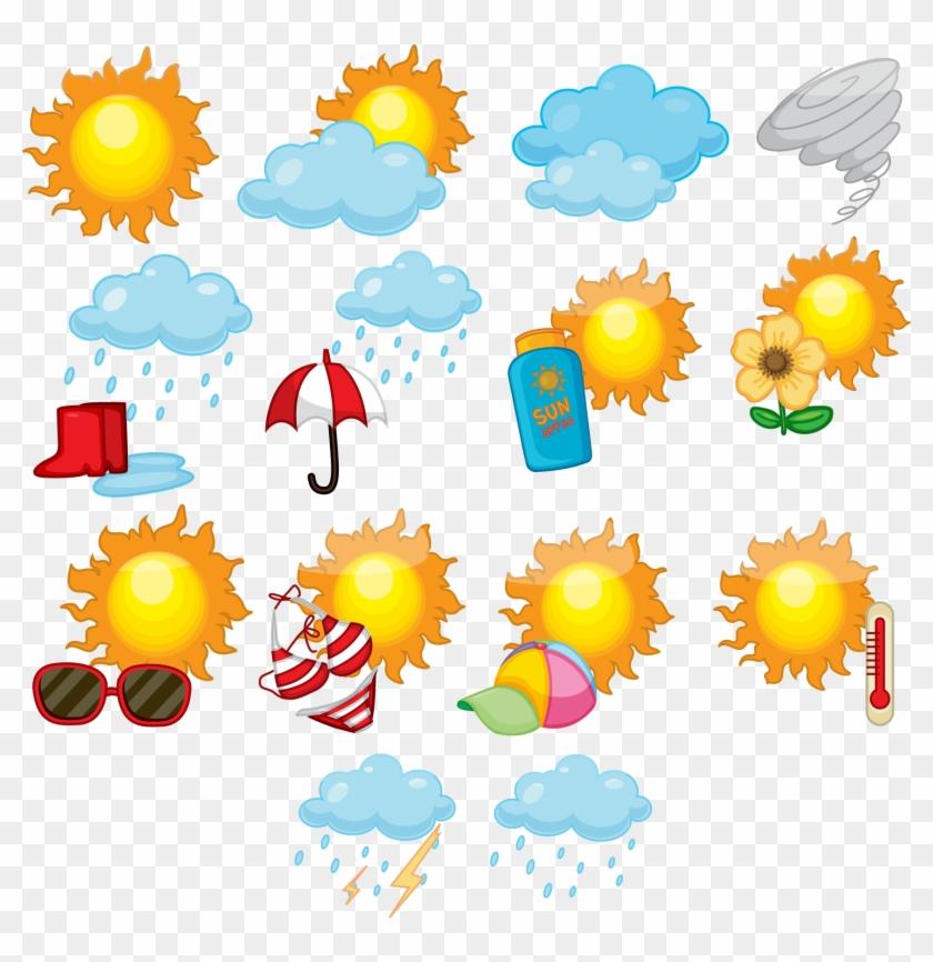 Weather Forecasting Symbol Clip Art - Weather Forecasting Symbol Clip Art #100121