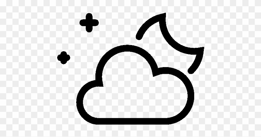 Night Clipart Partly Cloudy - Night Icon Png #100126