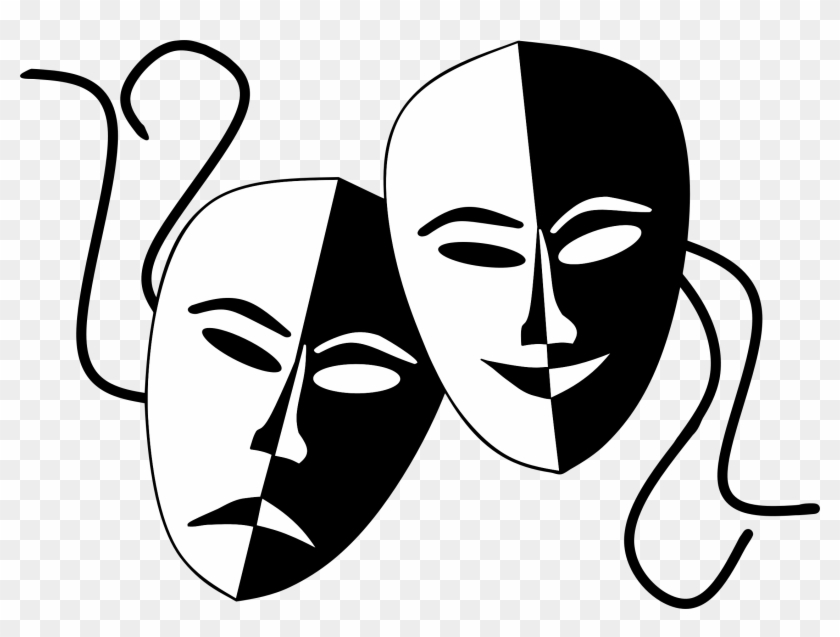 And Comedy Theater Masks - Theatre Masks #100130
