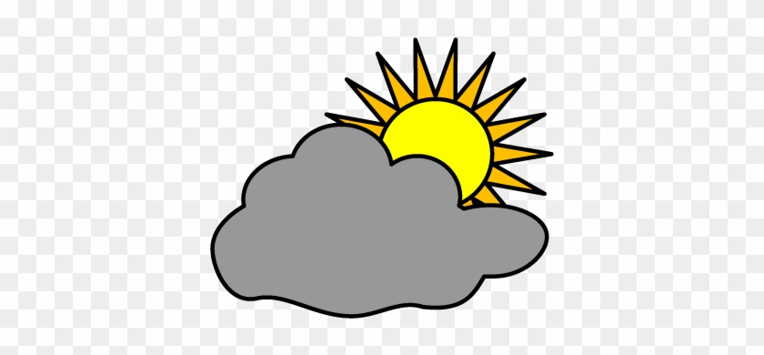 Pretty Cloudy Clip Art Image Gallery Mostly Cloudy - Partly Cloudy Weather Symbol #100139