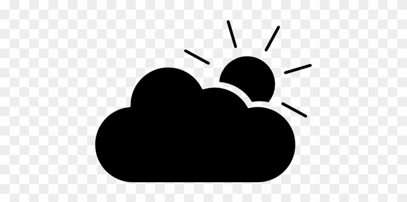 Sunny To Partly Cloudy Symbol Icon Free Icons Download - Partly Cloudy Symbol #100147