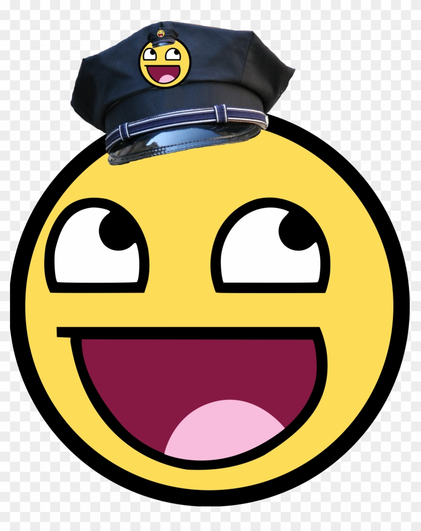 Filewikifun Police Smiley - Awesome Face #100342