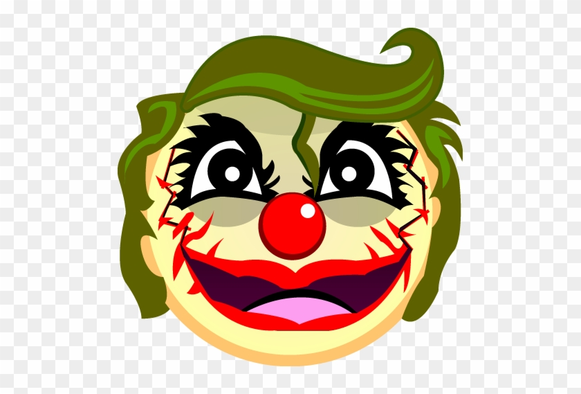 Creepy Joker Emoji By Emoteez - Creepy Emoji Png #100433