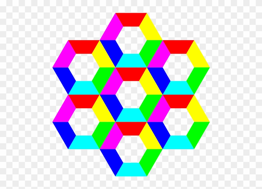 Half Hexagon Fun Png Images 600 X - Half Hexagon Clipart #100551